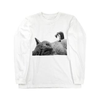 ほのかすまいる🐱歌×猫のほのけんグッズ2020!(白黒) Long sleeve T-shirts