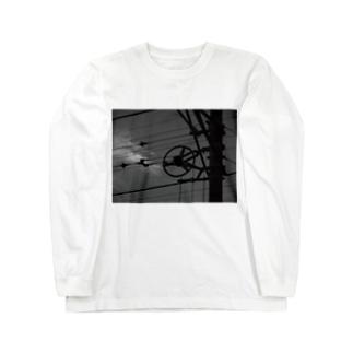 線路沿いの散歩 Long sleeve T-shirts