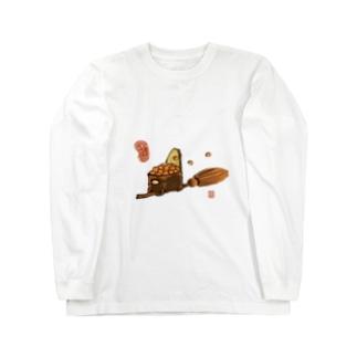 ほうきのいくら Long sleeve T-shirts
