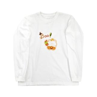 《ハロウィン》06*かぼちゃパンツのしろくま* Long sleeve T-shirts