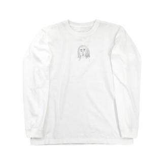 なほちゃんは小さい(正面デザインのみ) Long sleeve T-shirts