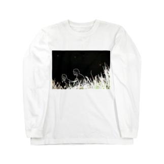 夜少女 Long sleeve T-shirts
