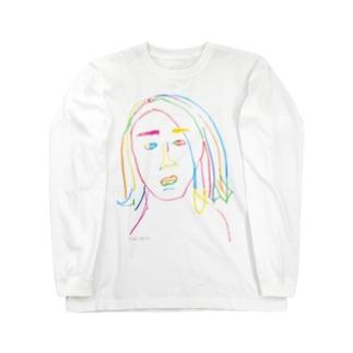 なほちゃんは色っぽい(正面デザインのみ) Long sleeve T-shirts