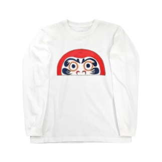 半分ダルマ Long sleeve T-shirts