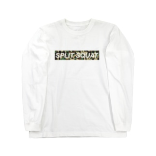 SPLIT SQUAT カモ柄BOXロゴ Long sleeve T-shirts