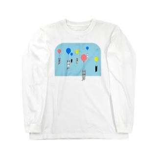 ベタですみません。風船 Long sleeve T-shirts