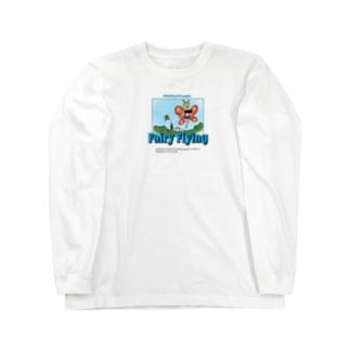 羽ばたけタネ Long sleeve T-shirts