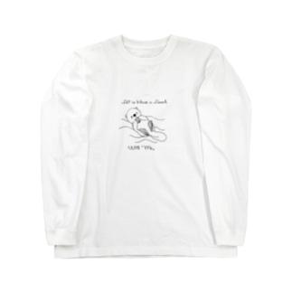 くいしんぼラッコ Long sleeve T-shirts