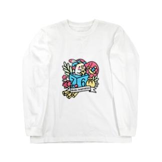 Chubby Bird オカメインコとマンドリン Birdic Inspiration Long sleeve T-shirts