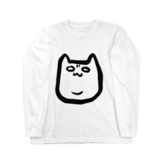 二重アゴネコ Long sleeve T-shirts