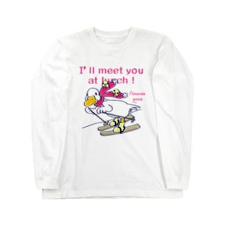 CT75あひるのおひるさんのスキーA Long sleeve T-shirts