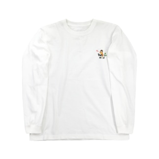 すんこ雑貨店のパンダ号すんこ Long sleeve T-shirts