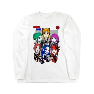 ゾンビロックバンド白 Long sleeve T-shirts