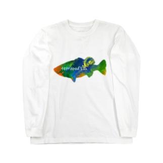 テトラポッヅロゴ(ブラックバス) Long Sleeve T-Shirt