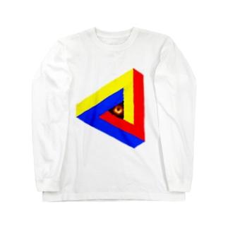 壊レタ歯車のブラックホールinペンローズの三角形-201025 Long sleeve T-shirts