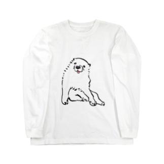 長沢芦雪の「あの犬」 Long sleeve T-shirts
