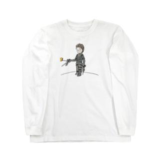 手がハサミの王子さま(星の王子さま) Long sleeve T-shirts