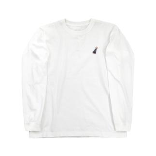 ウサギのパーティー帽子 Long sleeve T-shirts