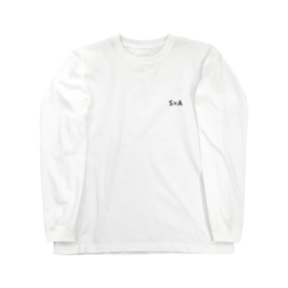S×A 背面デザイン Long sleeve T-shirts