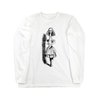 不思議の国のアリス 首が伸びたアリス Long sleeve T-shirts