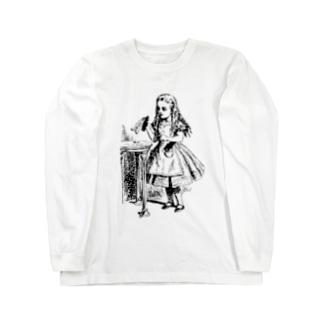 不思議の国のアリス drink me Long sleeve T-shirts