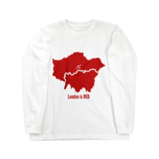 London is RED Long sleeve T-shirts