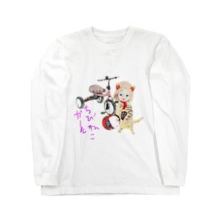 Rock catのちびねこRIDER Long sleeve T-shirts