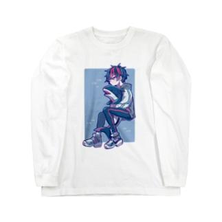 サメくん Long sleeve T-shirts