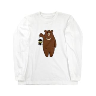 ツキノワグマさん Long sleeve T-shirts