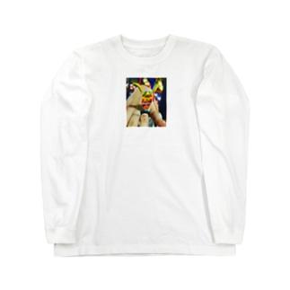 カンボジアビール文字 Long sleeve T-shirts