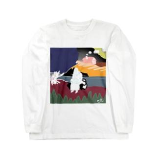 川原の人 Long sleeve T-shirts