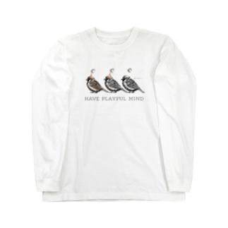 スズメとカフェオレ Long sleeve T-shirts