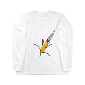 エビフライが直撃 Long sleeve T-shirts