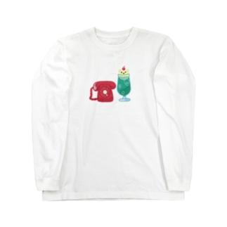 クリームソーダとダイヤル式でんわ Long sleeve T-shirts