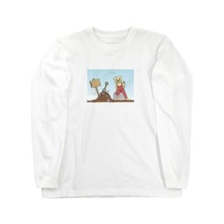 ファンキークマさん Long sleeve T-shirts