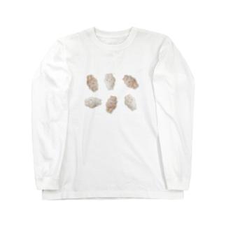 ちらばるうさぎ Long sleeve T-shirts