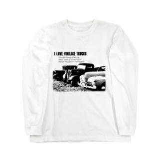 レトロトラック Long sleeve T-shirts