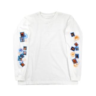 切手まみれシャツ Long sleeve T-shirts