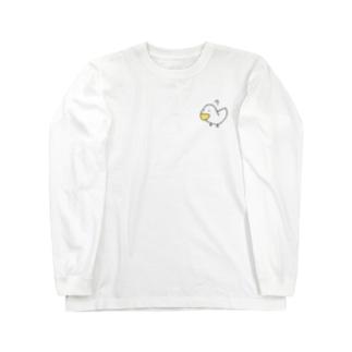 疑問符とアヒル Long sleeve T-shirts