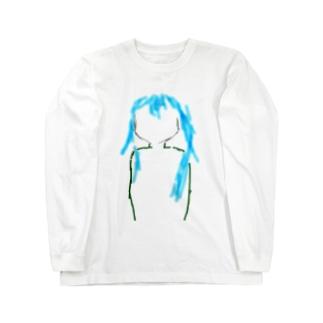 青毛シルエット Long sleeve T-shirts