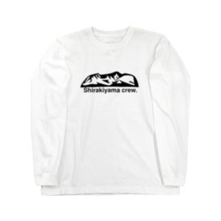 Shirakiyama crew Long sleeve T-shirts