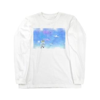 白鳥とイーノック Long sleeve T-shirts