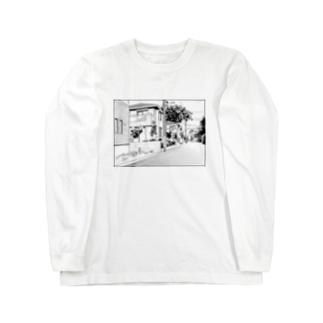 漫画背景風イラスト Long sleeve T-shirts