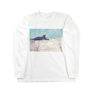 街の黒猫 Long sleeve T-shirts