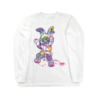 うさぎのラビ★スリラーハロウィン-ゾンビ-パステル Long sleeve T-shirts