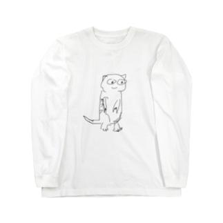 牛タン ミーアキャット Long sleeve T-shirts