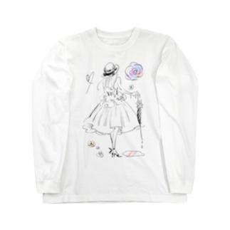 AMEAGARI(淡地) Long sleeve T-shirts