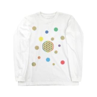 The_Light_Bridgeの虹チャクラ裏版 Long sleeve T-shirts