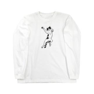 ねこ拳法 Long sleeve T-shirts