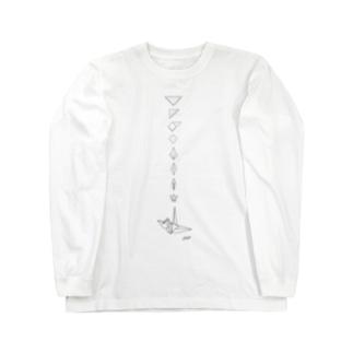 おりづる Long sleeve T-shirts